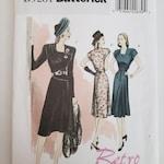 DESTASH Butterick sewing pattern 5281 Sz AA (6-8-10-12) ~ Retro '46 1946 misses' dress & belt, costume ~ semi-fitted, below knee ~ NIP New
