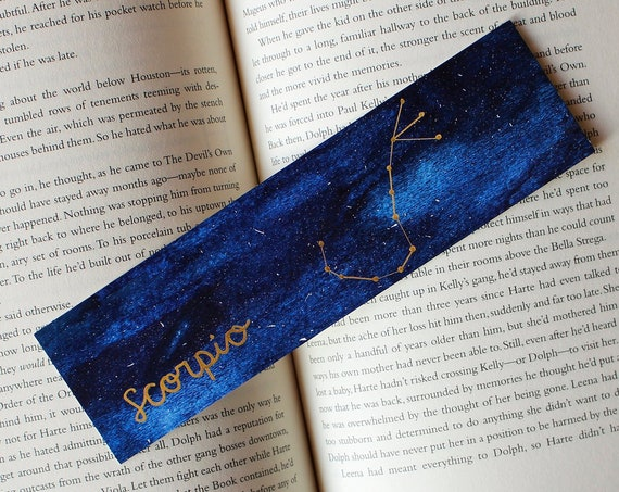 Scorpio Zodiac Constellation Galaxy Bookmark