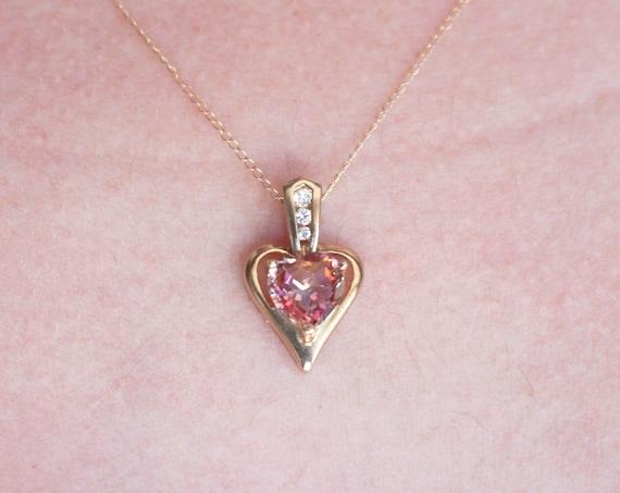 Heart Pendant with Diamonds | 10k Yellow Gold