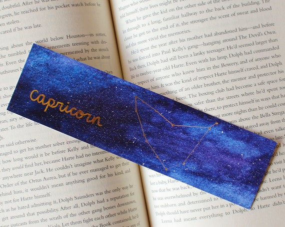 Capricorn Zodiac Constellation Galaxy Bookmark