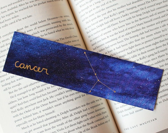 Cancer Zodiac Constellation Galaxy Bookmark
