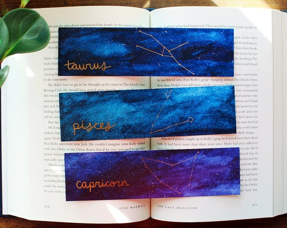 Zodiac Constellation Sun/Moon/Rising Signs Bundle (3 Bookmarks)