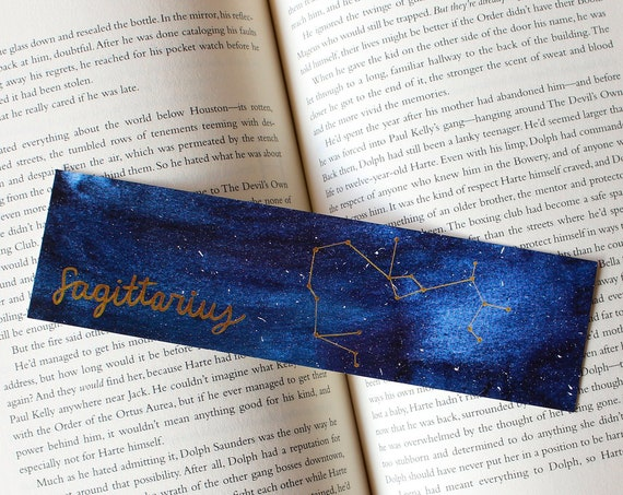 Sagittarius Zodiac Constellation Galaxy Bookmark