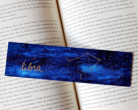Libra Zodiac Constellation Galaxy Bookmark