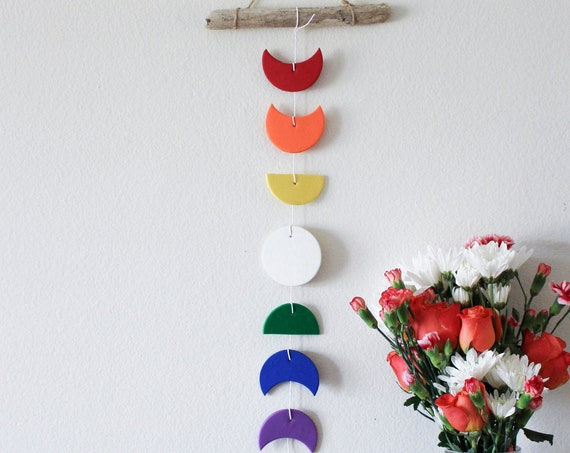 LIMITED EDITION: Pride 2019 Rainbow Moon Phase Wall Hanging