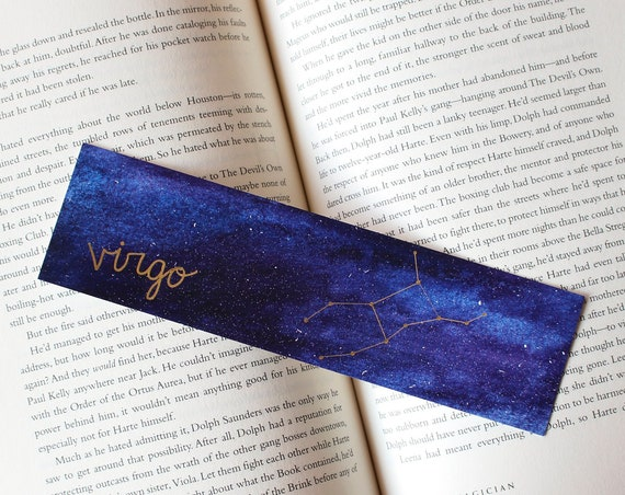 Virgo Zodiac Constellation Galaxy Bookmark