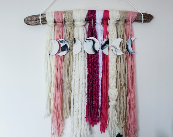 Moon Phase Yarn Wall Hanging - Hephaestus