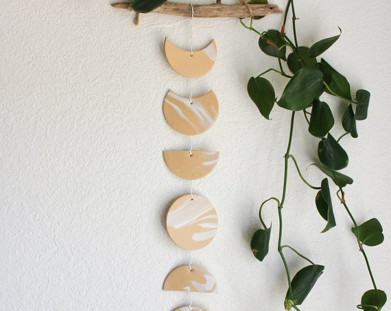Sand Moon Phase Wall Hanging