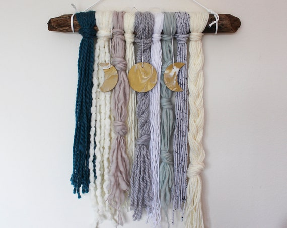 Moon Phase Yarn Wall Hanging - Oceanus