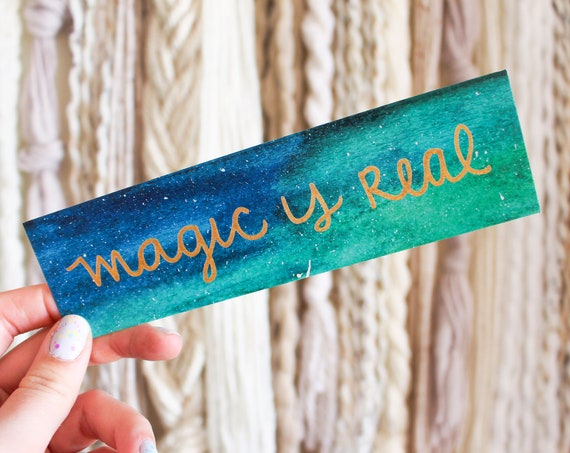 Magic is Real Galaxy Bookmark