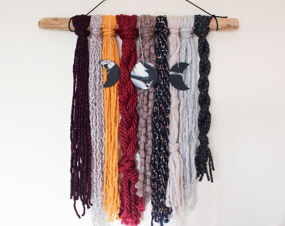 Moon Phase Yarn Wall Hanging - Athena