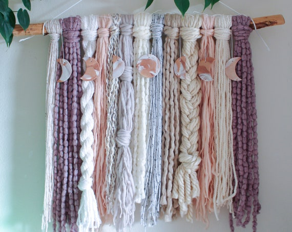 Moon Phase Yarn Wall Hanging - Aurai