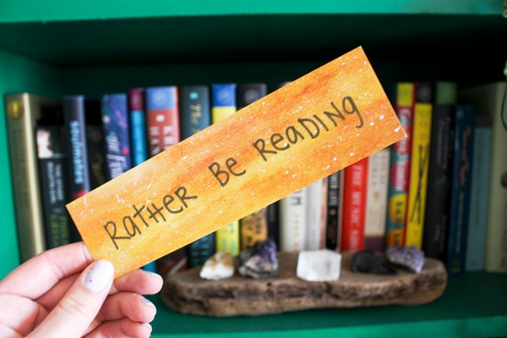 Rather Be Reading Galaxy Bookmark