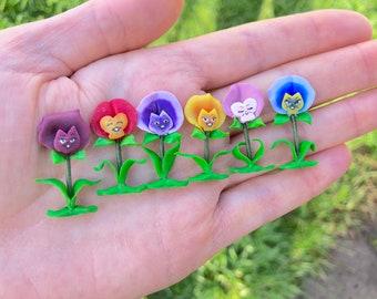 Alice in wonderland dollhouse miniature clay flowers *Alice in wonderland dollhouse miniatures *polymer clay miniatures *handmade clay