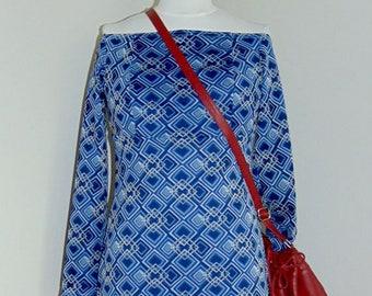 Mongolian Print Off shoulder Dress