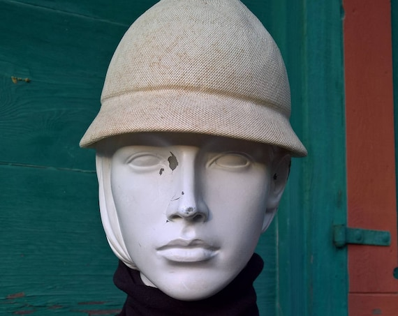 Vintage Hat Stuctured Equestrian Bon Marche Honey Hive