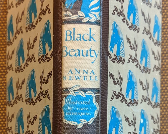 "Vintage Book ""Black Beauty"" Anna Sewell 1945, Fritz Eichenberg Illustrations"