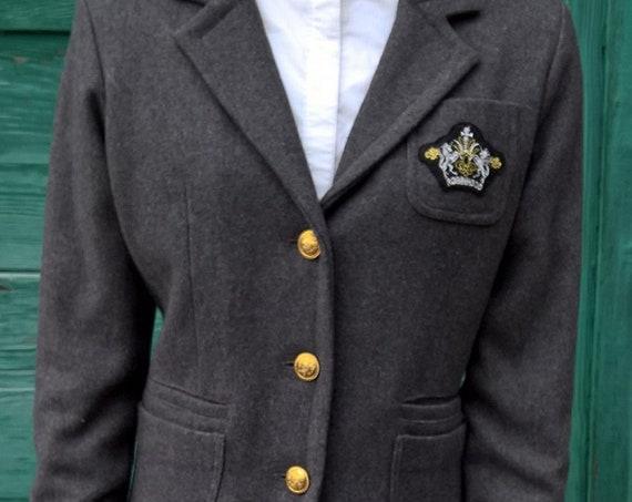 Vintage Jacket Blazer Equestrian Collegiate RH Robin Hood