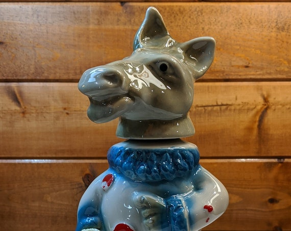 Vintage Jim Beam Decanter Democratic Donkey Clown -1968