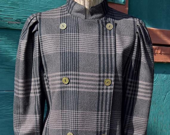 Vintage Jacket Louis Féraud Plaid Cropped