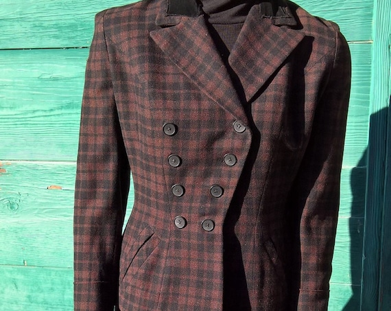 Vintage Jacket Blazer Equestrian Hacking Wool Saks 5th Ave