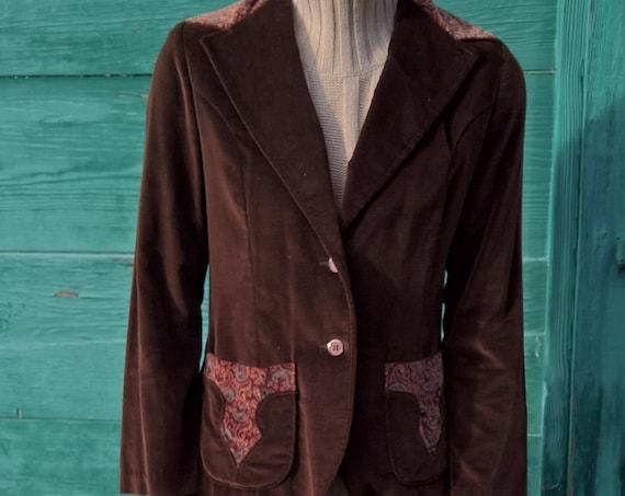 Vintage Jacket Bohemian Equestrian StageWest Velvet