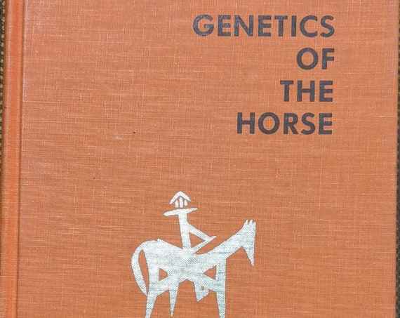 "Vintage Book ""Genetics of the Horse"" Reference Book – 1973"