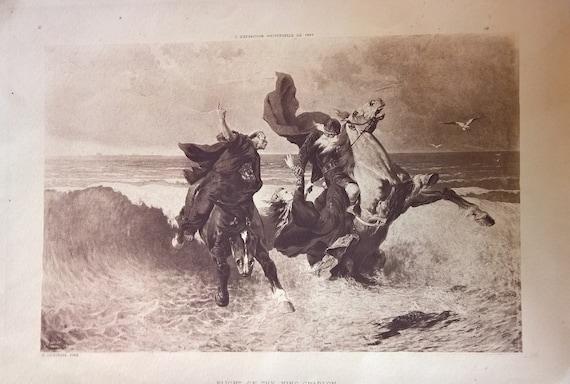 Vintage Print 1889 King Gradlon L' Exposition Universelle de - Evariste Luminais