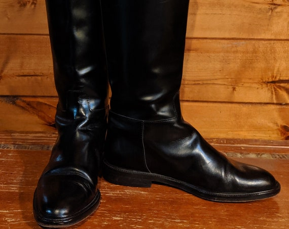 Vintage Riding Boots Michael Kors Black Leather