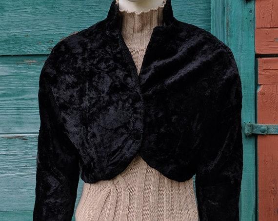Vintage Bolero/Shrug Jacket Glentex Plush 1950s