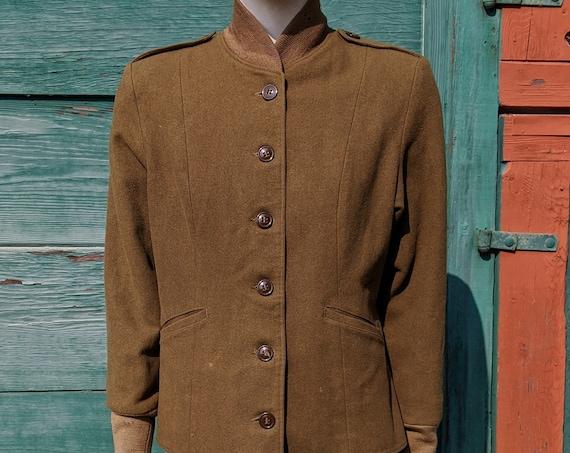 Vintage Field Jacket WWII Military Women's -1940s