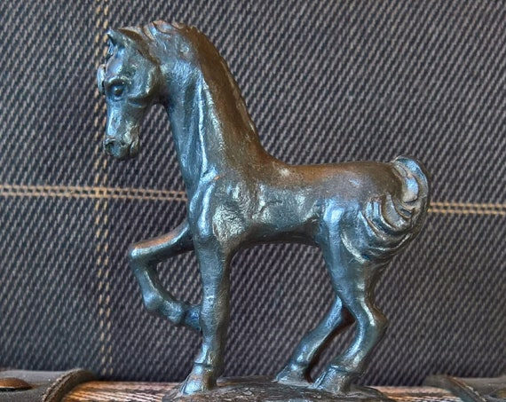 Vintage Horse Figurine Pewter Ampersand