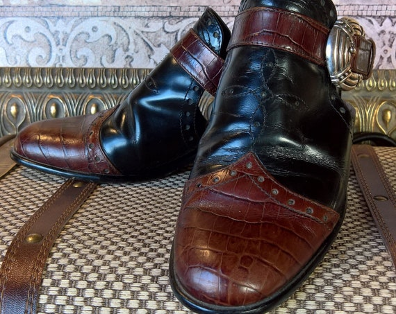 Vintage Shoes Italian-Made Oxford Western Mules