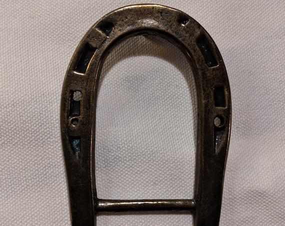 Vintage Buckle Simple Bronze Horseshoe