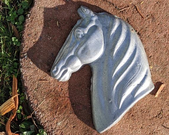 Vintage Horse Head Cast Alloy Plaque