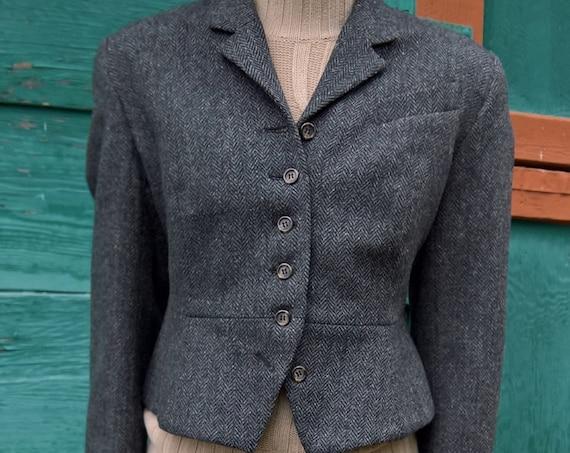 Vintage J Peterman Catalog Jacket Tweed Blazer New York Adventure