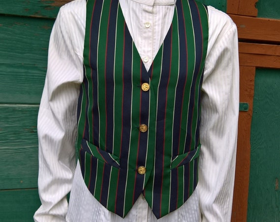 Vintage Gilet Vest Striped Nantucket Dandy