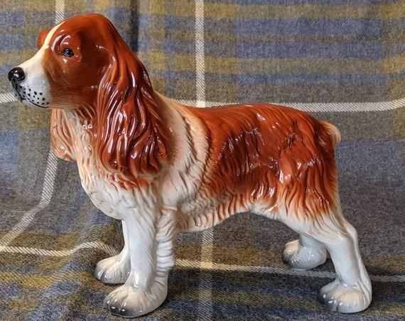 Vintage Figurine Large Ceramic Spaniel
