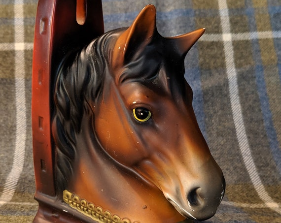 Vintage Bookend Horse Head with Shoe Porcelain Single 1950s