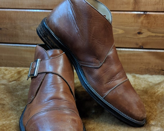 Vintage Mens Shoes/Boots Johnston & Murphy – 1970s Italy
