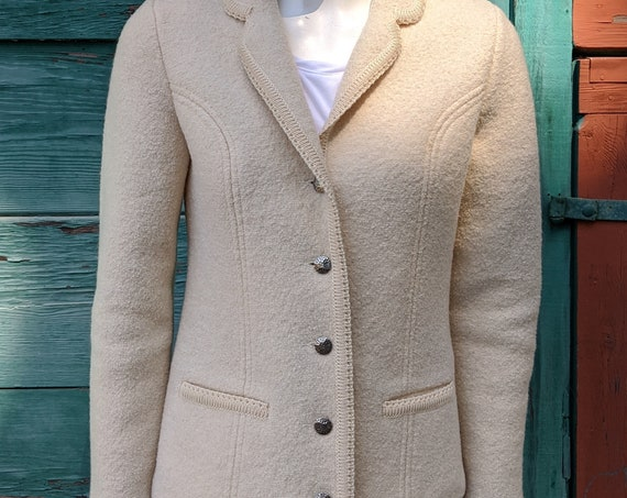Vintage Boiled Wool Jacket Geiger Country Chic-1980s