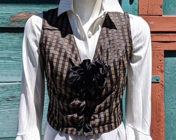 Vintage Satin Ribbon Bustier Vest