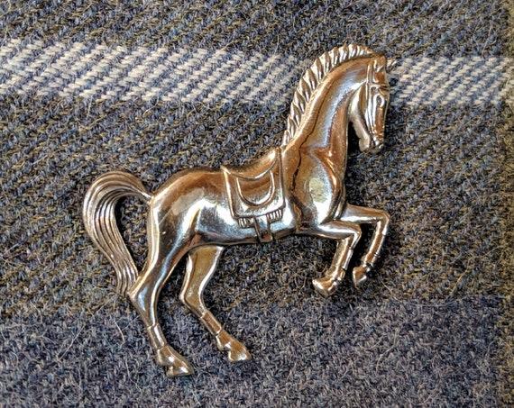 Vintage Horse Pin Sterling Dressage levade