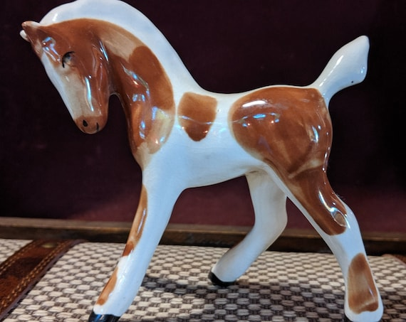 Vintage Porcelain Pony Painted Pinto
