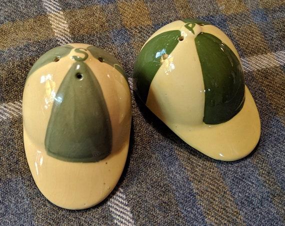 Vintage Salt & Pepper Set Jockey Caps