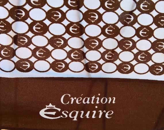 Vintage Scarf Creation Esquire Logo