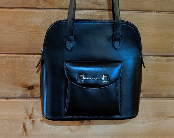 Vintage Purse Smooth Italian Leather Horsebit Detail