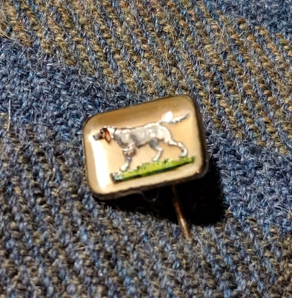 Vintage Pin Sporting Dog Hickok Jewelry Co Small Rosette