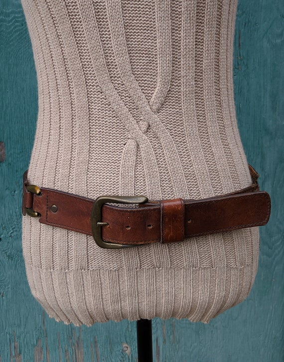 Vintage Belt Harness Leather with Brass – 1970s
