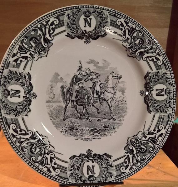 Vintage Plate Boch Fes La Louviere Napoleon Series Transferware
